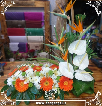 سبد گل شاد کد sabads 0010